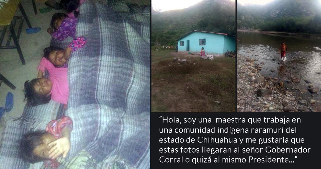 Maestra pide auxilio y revela en redes las añejas carencias en escuelas de la Tarahumara