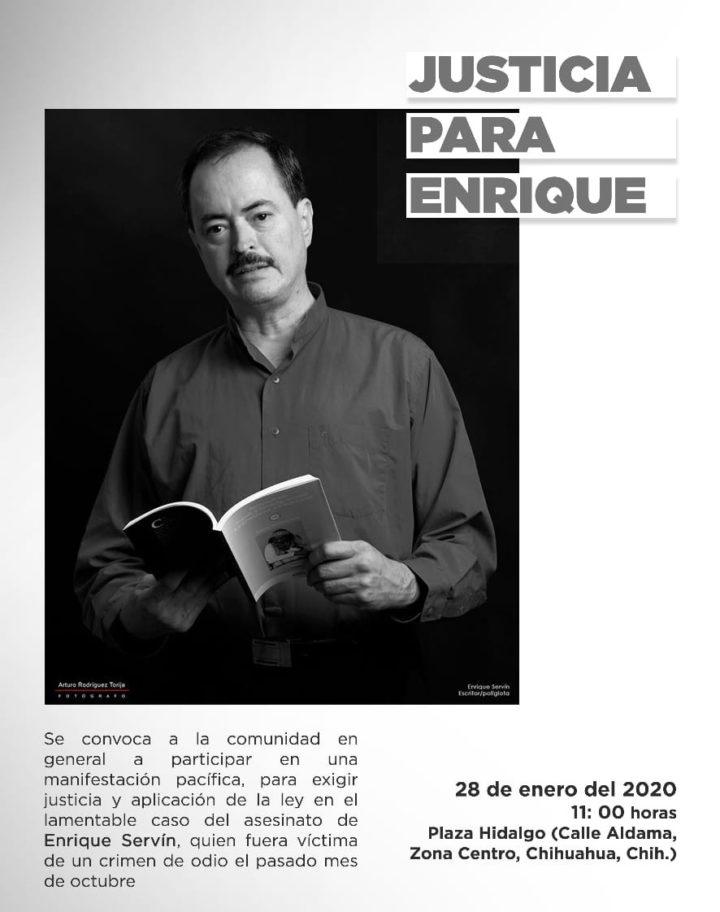 Llaman a exigir Justicia para Enrique Servín, en Chihuahua