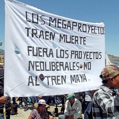Repudian indígenas del Múuch' Xíinbal banderazo a obras del Tren Maya