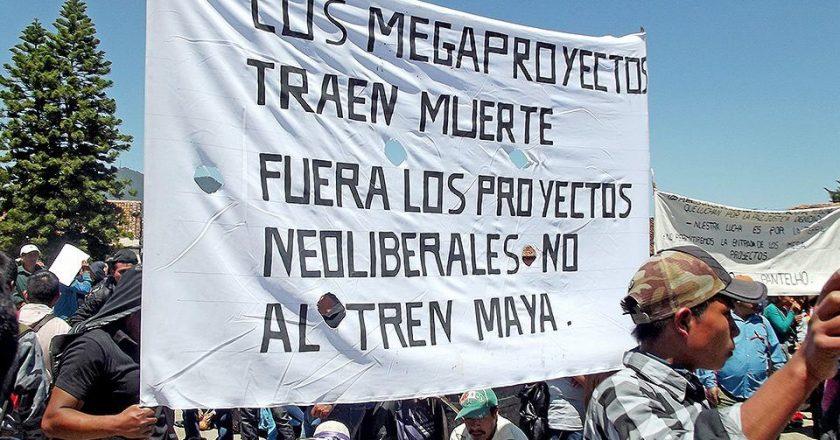 Repudian <strong>indígenas del Múuch' Xíinbal</strong><i> banderazo</i> a obras del Tren Maya