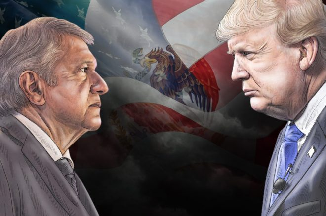 Trump y AMLO: caminos opuestos