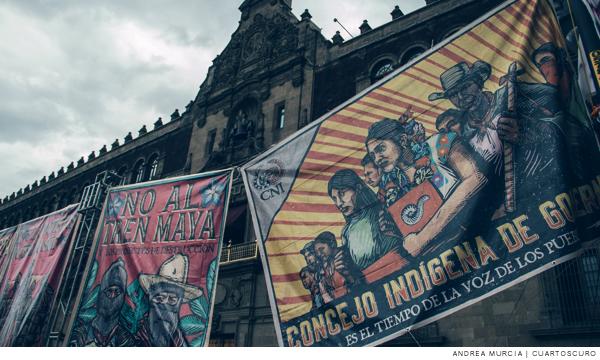 """""""No al Tren Maya, primero justicia por masacre en Acteal"""", exigen indígenas"""